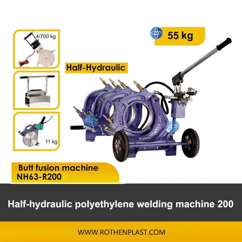 Butt fusion machine Half Hydraulic NH63-R200