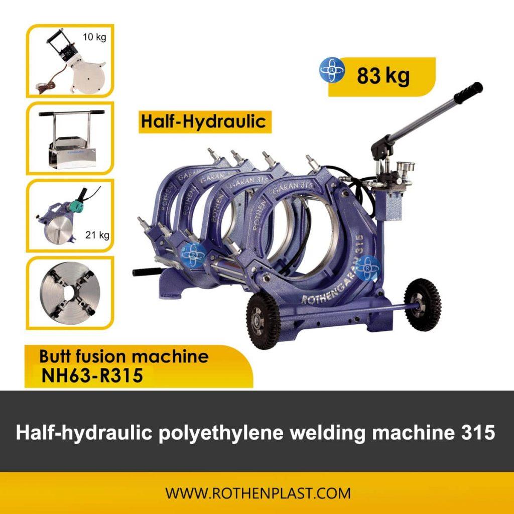 Butt fusion machine Half Hydraulic NH63-R315