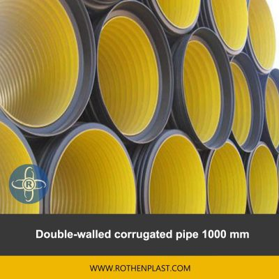 Double walled corrugated pipe 1000 mm