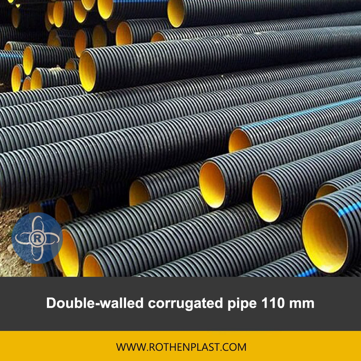 Double walled corrugated pipe 110 mm