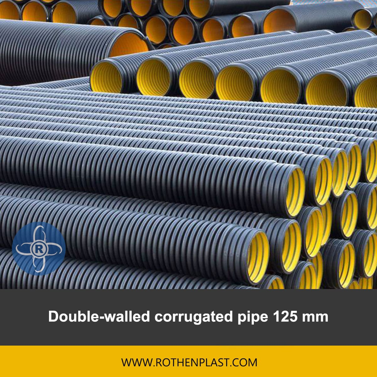 Double walled corrugated pipe 125 mm