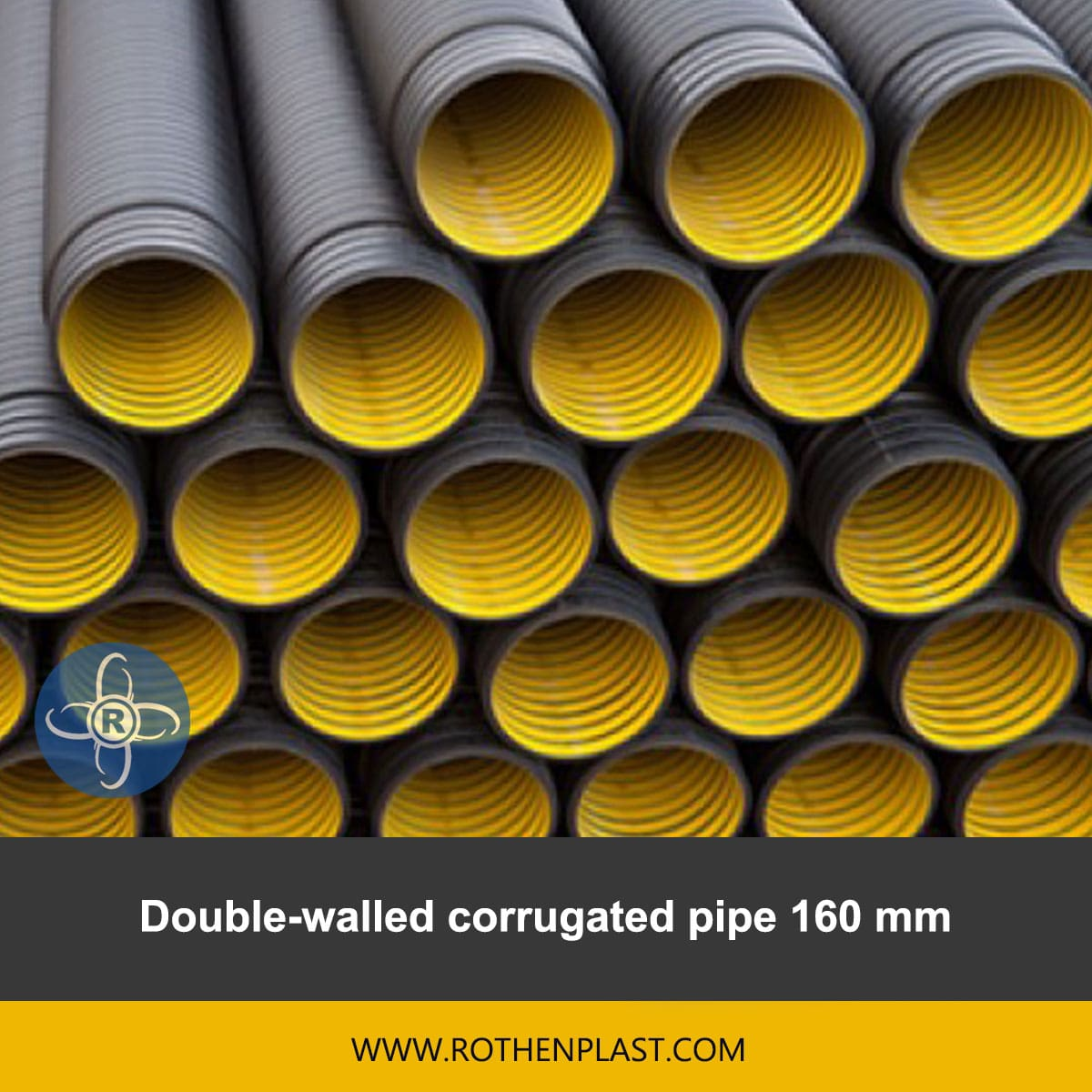 Double walled corrugated pipe 160 mm