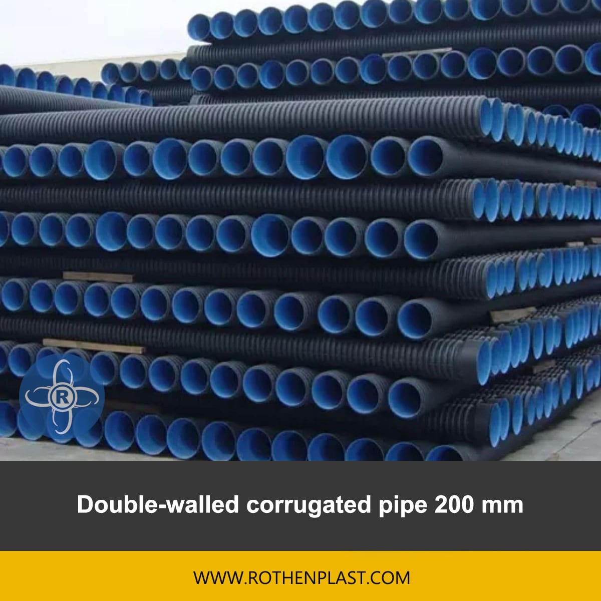 Double walled corrugated pipe 200 mm