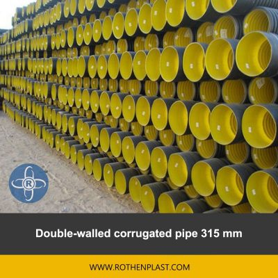 Double walled corrugated pipe 315 mm