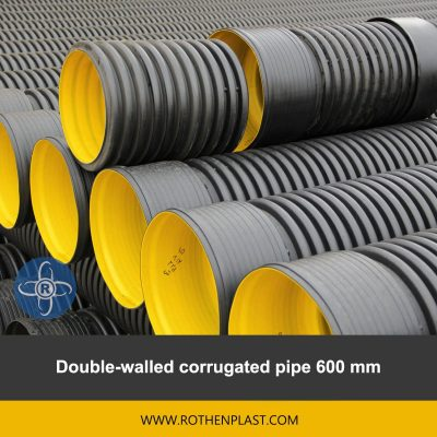 Double walled corrugated pipe 600 mm