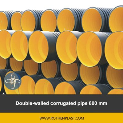 Double walled corrugated pipe 800 mm