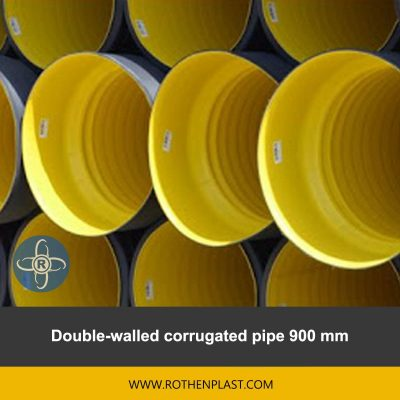 Double walled corrugated pipe 900 mm