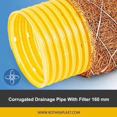 Corrugated Drainage Pipe With Filter 160 mm