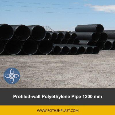 Profiled wall Polyethylene Pipe 1200 mm
