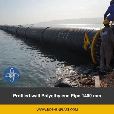 Profiled wall Polyethylene Pipe 1400 mm