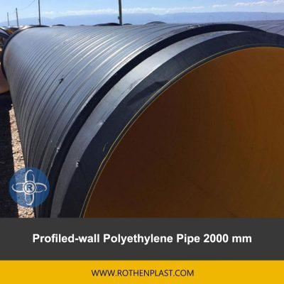 Profiled wall Polyethylene Pipe 2000 mm