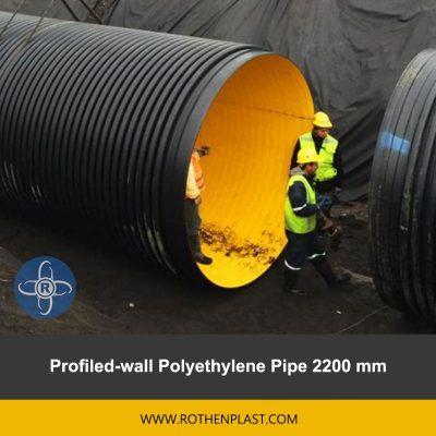 Profiled wall Polyethylene Pipe 2200 mm