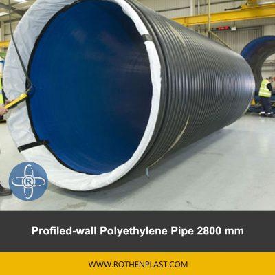 Profiled wall Polyethylene Pipe 2800 mm