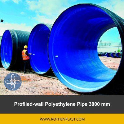 Profiled wall Polyethylene Pipe 3000 mm