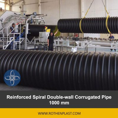 Reinforced Spiral Double wall Corrugated Pipe 1000 mm