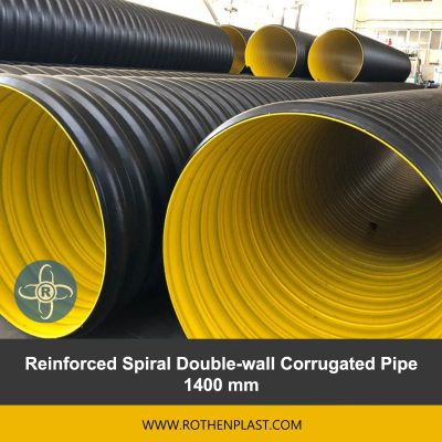 Reinforced Spiral Double wall Corrugated Pipe 1400 mm