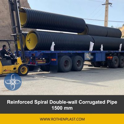 Reinforced Spiral Double wall Corrugated Pipe 1500 mm