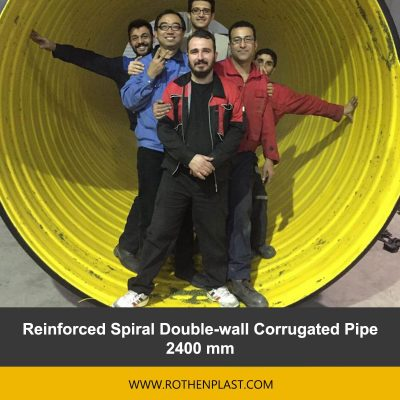 Reinforced Spiral Double wall Corrugated Pipe 2400 mm