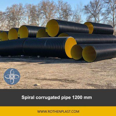 spiral corrugated pipe 1200 mm