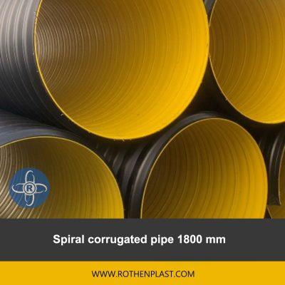 spiral corrugated pipe 1800 mm