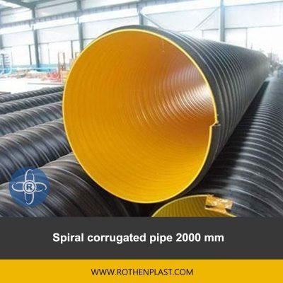 spiral corrugated pipe 2000 mm