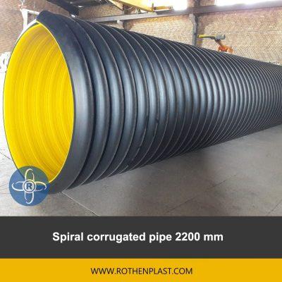 spiral corrugated pipe 2200 mm