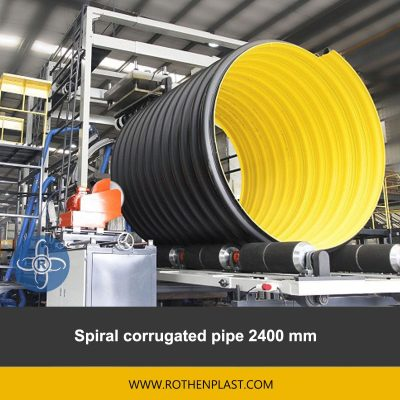 spiral corrugated pipe 2400 mm