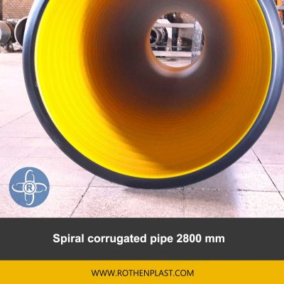 spiral corrugated pipe 2800 mm